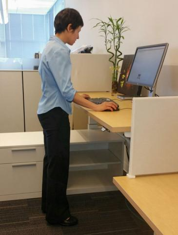 Standing desk too low